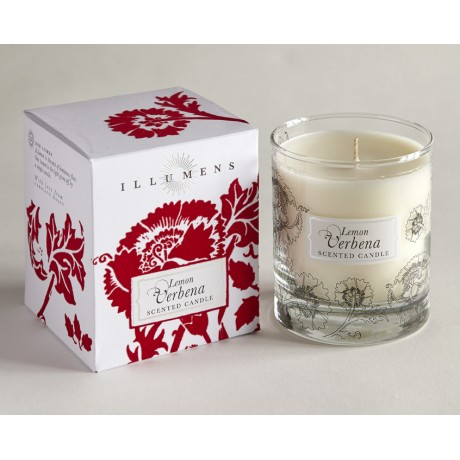 Lemon Verbena Scented Candle in Glass