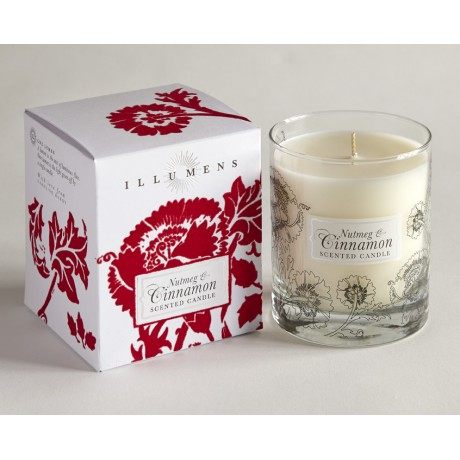 Nutmeg & Cinnamon Rouge Scented Candle in Glass