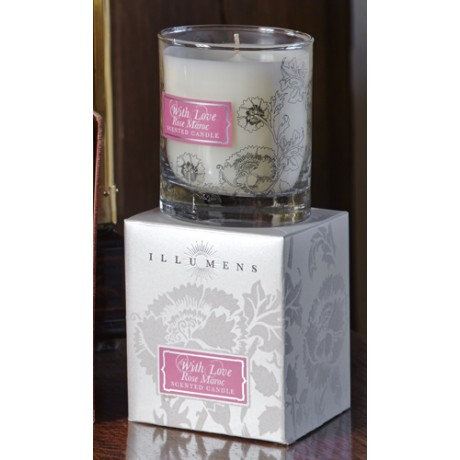 Rose Maroc Scented Candle in Glass